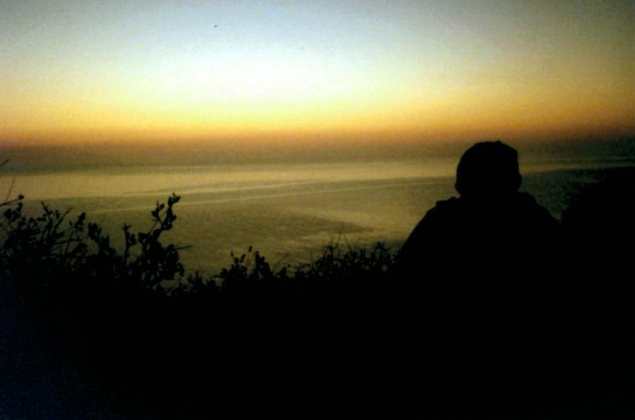"""On their last day, students took a sunrise hike up to """"The Shrine."""""""