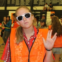 Senior Ashley Mains can't see the haters
