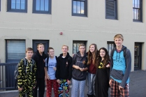 Freshmen dress up for their first LGHS pajama day.