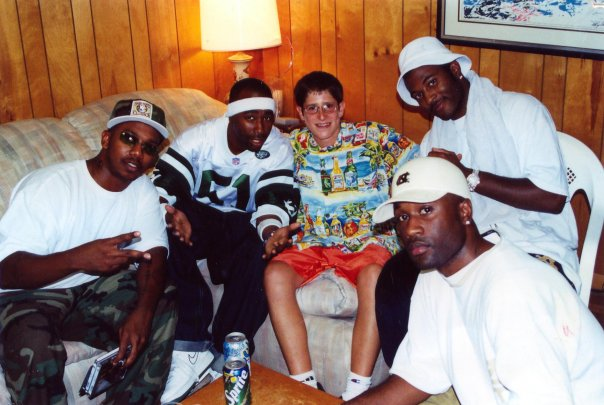 Burd as a teen, being first introduced in to black hip hop culture