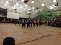 The Dance team riles up the crowd