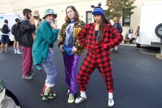 Students wear their wackiest attire to school.