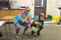 Students come decked out in tie dye.