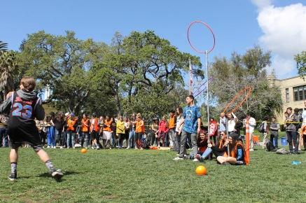 Quidditch was a hit as a new lunch time game!