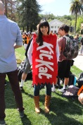 Guidance Counselor Farah Manganello chose to dress as a classic candy, the Kit-Kat.