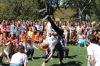 Junior Casey Braga goes for a flip in the dance battle.