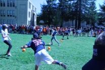 Sophomores go for a throw.