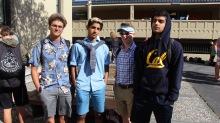 Juniors show off their east coast and west coast attire.