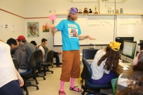 Mr. Holme rocks his fashion disaster.