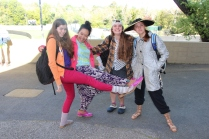 Senior girls proudly show off their fashion faux pas.