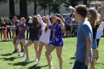The freshmen show off their moves during the dance battle.