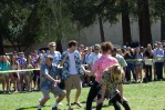 The senior dancers get freaky on the lawn during the dance battle, earning first place in the competition.