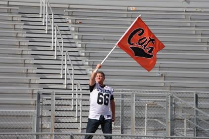 Mr. Ceran proudly waves the LG flag.