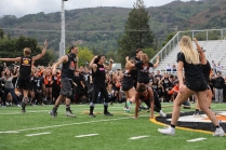 Class of 2018 Seniors celebrate their third fall rally Tug-of-War championship.