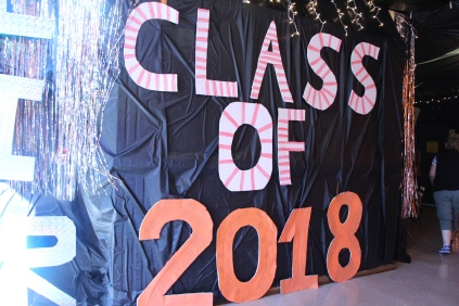 The class of 2018's hallway represents the Game of Life.