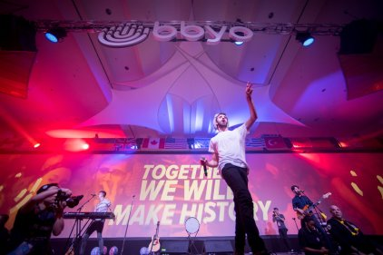 AJR performs for BBYO.