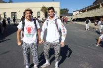 Junior boys rep their look alike apparel.