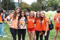 Junior girls rep' the orange spirit.