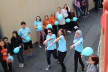 Unconditionally positive, a student run organization, shows over their dance moves during Lip Dub