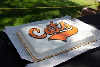 As an homage to the athletes' high school pride, the administration provided a Wildcat-themed cake for the festivities.