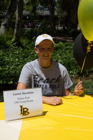 Carter Hawkins will be attending Cal State Long Beach to play water polo.