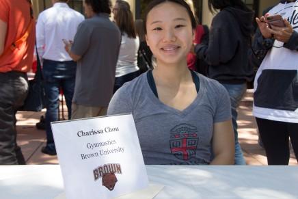 Charissa Chou will be attending Brown University to do gymnastics.