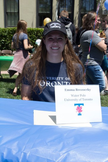 Emma Brezoczky will be attending the University of Toronto to play water polo.