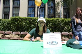 Erin Moss will be attending Cal Poly, San Luis Obispo to race on the track team.