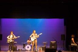 "Cassandra Melax, Alex Haukness, Avan Gangi, and Alic Bibaud play the song ""Electric."""