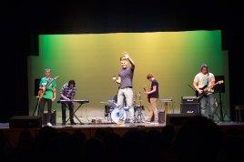 "William Fulton, Bo Bramer, Erik Johnstone, henry Beamish, David Mark, and Ian Moore, perform ""Mr. Brightside."""