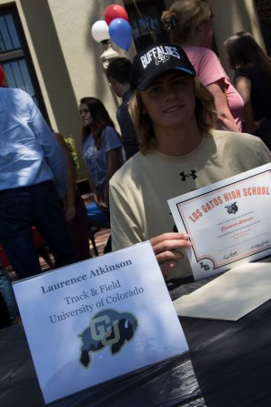 Laurence Atkinson will be attending the University of Colorado, Boulder to be on the track and field team.