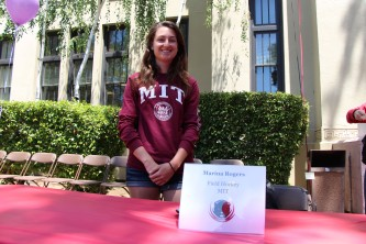 Marina Rogers will be attending Massachusetts Institute of Technology to play field hockey.