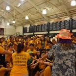 Link Crew leaders break in preparation for the incoming freshmen