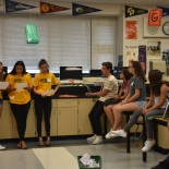 Link Crew Leaders giving an overview of their time with the new freshman